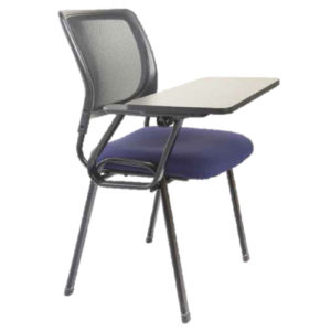 Prima-Chair-Mesh-Side-II-With-Writing-Pad-BL