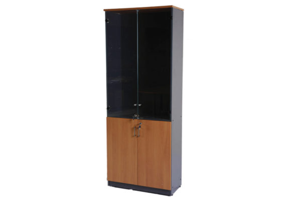 High-Cabinet-With-Half-Glass-Doors